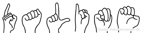Daline im Fingeralphabet der Deutschen Gebärdensprache