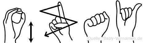 Özay im Fingeralphabet der Deutschen Gebärdensprache
