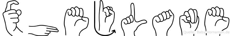 Xhejlane in Fingersprache für Gehörlose