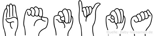 Benyma in Fingersprache für Gehörlose