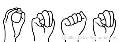 Onan in Fingersprache für Gehörlose