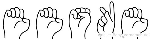 Eeske in Fingersprache für Gehörlose