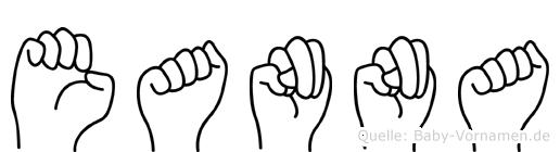 Eanna im Fingeralphabet der Deutschen Gebärdensprache