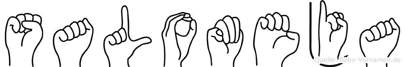 Salomeja im Fingeralphabet der Deutschen Gebärdensprache