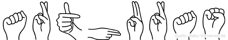 Arthuras im Fingeralphabet der Deutschen Gebärdensprache