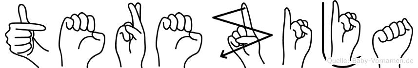 Terezija im Fingeralphabet der Deutschen Gebärdensprache