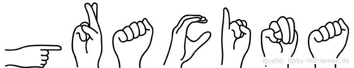 Gracina in Fingersprache für Gehörlose