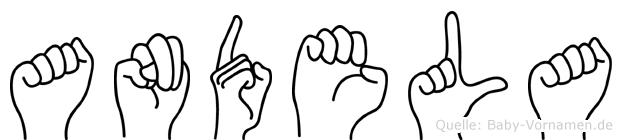 Andela im Fingeralphabet der Deutschen Gebärdensprache