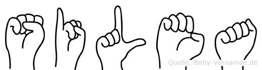 Silea im Fingeralphabet der Deutschen Gebärdensprache