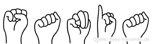 Sania im Fingeralphabet der Deutschen Gebärdensprache