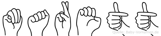 Marett in Fingersprache für Gehörlose