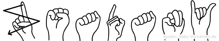 Zsadany in Fingersprache für Gehörlose