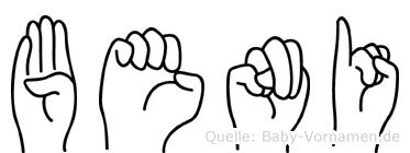 Beni in Fingersprache für Gehörlose