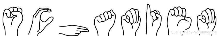 Schamiem in Fingersprache für Gehörlose
