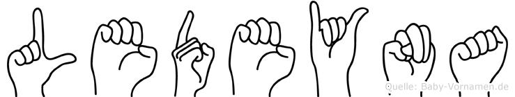 Ledeyna in Fingersprache für Gehörlose