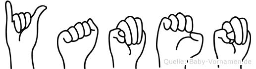 Yamen im Fingeralphabet der Deutschen Gebärdensprache