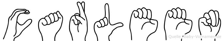 Carleen in Fingersprache für Gehörlose