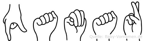 Qamar im Fingeralphabet der Deutschen Gebärdensprache