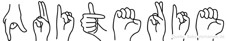 Quiterie in Fingersprache für Gehörlose