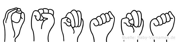 Osmana im Fingeralphabet der Deutschen Gebärdensprache