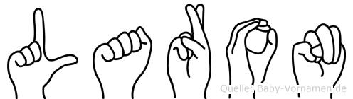 Laron im Fingeralphabet der Deutschen Gebärdensprache