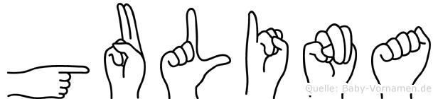 Gulina in Fingersprache für Gehörlose