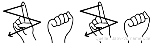Zaza in Fingersprache für Gehörlose