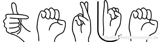 Terje in Fingersprache für Gehörlose