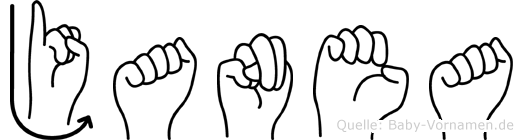Janea im Fingeralphabet der Deutschen Gebärdensprache