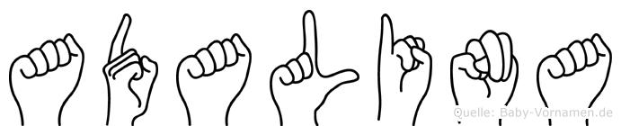 Adalina im Fingeralphabet der Deutschen Gebärdensprache