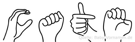 Cate in Fingersprache für Gehörlose