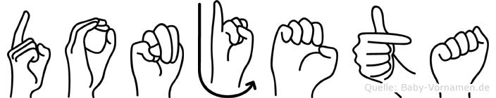Donjeta im Fingeralphabet der Deutschen Gebärdensprache