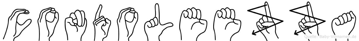 Condoleezza im Fingeralphabet der Deutschen Gebärdensprache