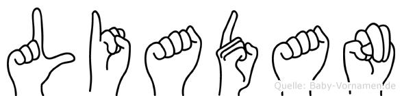 Liadan in Fingersprache für Gehörlose