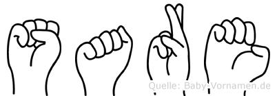 Sare in Fingersprache für Gehörlose