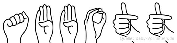 Abbott im Fingeralphabet der Deutschen Gebärdensprache