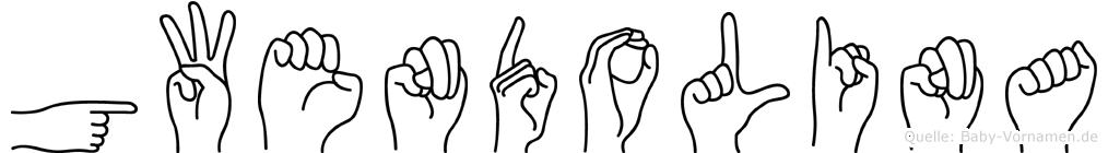 Gwendolina im Fingeralphabet der Deutschen Gebärdensprache