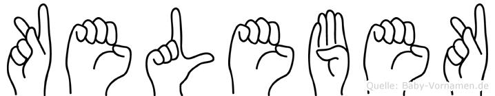Kelebek im Fingeralphabet der Deutschen Gebärdensprache