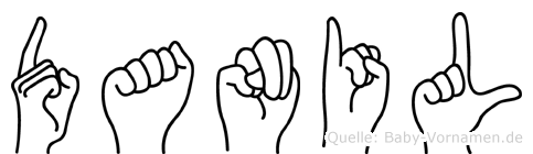 Danil im Fingeralphabet der Deutschen Gebärdensprache