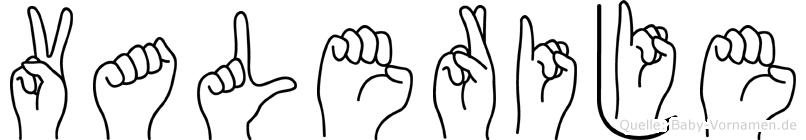 Valerije in Fingersprache für Gehörlose