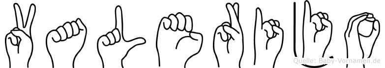 Valerijo in Fingersprache für Gehörlose
