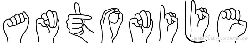 Antonije in Fingersprache für Gehörlose