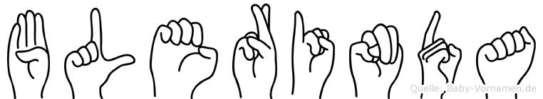 Blerinda im Fingeralphabet der Deutschen Gebärdensprache