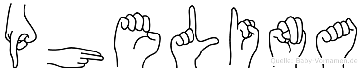 Phelina in Fingersprache für Gehörlose