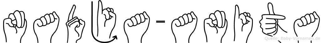 Nadja-Anita im Fingeralphabet der Deutschen Gebärdensprache