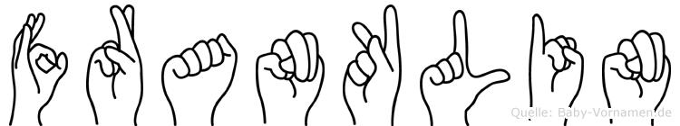 Franklin in Fingersprache für Gehörlose