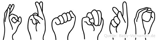 Franko im Fingeralphabet der Deutschen Gebärdensprache