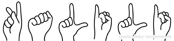 Kalili in Fingersprache für Gehörlose