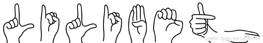 Lilibeth in Fingersprache für Gehörlose