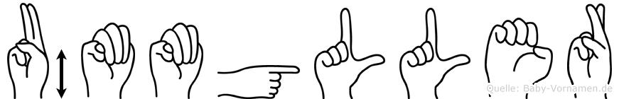 Ümmügüller im Fingeralphabet der Deutschen Gebärdensprache
